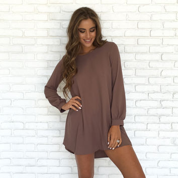 Never Changing Dress In Mocha