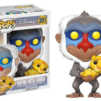 Disney Lion King Rafiki with Simba POP! Vinyl Figure