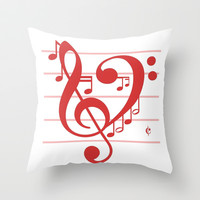 Love Music ~ Valentines Edition ~ Throw Pillow by RichCaspian