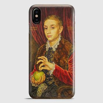 Boy With Apple Grand Budapest Hotel iPhone X Case
