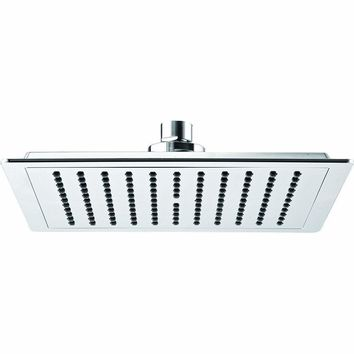 ME Rain Shower Head Square Swivel Rainfall Showerhead ABS Polished Chrome