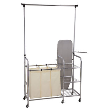 Household Essentials Laundry Station Sorter With Ironing Board
