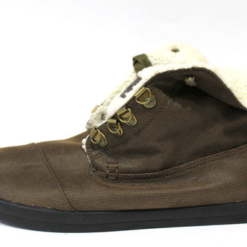 Toms Men's Highland Botas Brown Fleece Casual Shoes
