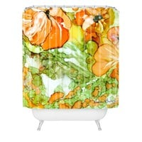 Rosie Brown Summer in Orange Shower Curtain