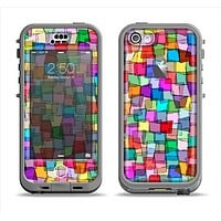 The Vibrant Colored Abstract Cubes Apple iPhone 5c LifeProof Nuud Case Skin Set