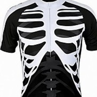 Men's Summer Bike Cycling Bicycle Quick Dry Breathable Skeleton Half Zipper Short Sleeve Shirt