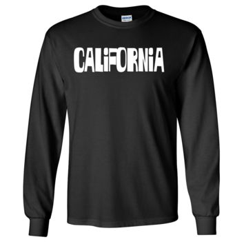 California Block Letters Long Sleeve Shirt