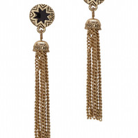 House of Harlow 1960 Jewelry Sunburst Tassel Earrings