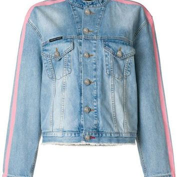 ESBONJF Philipp Plein Tiger Embroidered Denim Jacket - Farfetch