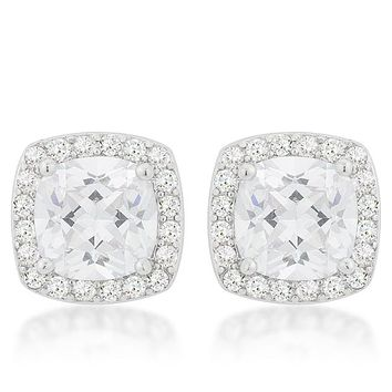 Clarissa Cushion Cut Halo Stud Earrings ca80eee30