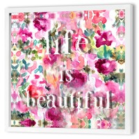"""Life is Beautiful"" Dimensional Art Framed Print of Painting"