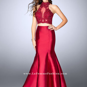 La Femme 24306 Two Piece Prom Dress