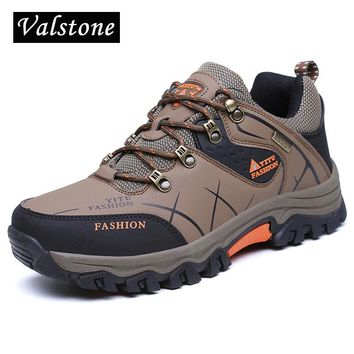 Valstone men Quality snow boots anti-skid outdoor sneakers lace-up ankle boots waterproof warm winter boots hombres plus size 47