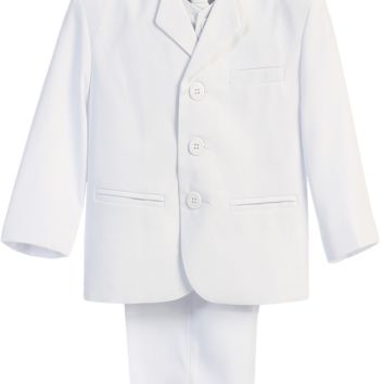 (Sale) Boys 20H Husky White Single Breasted Dress Suit 5 Piece Set