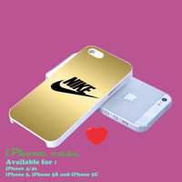nike gold logo design iphone casce for iphone 4/4s case, iphone 5 case. iphone 5s case. iphone 5c case