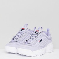 Fila Premium Disruptor Trainers In Lilac at asos.com