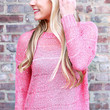 Holographic Holiday Sweater - Pink