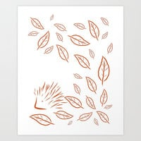 Autumn Leafs Art Print by DAVID DARCY