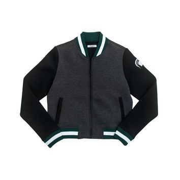 Michigan State University Cropped Varsity Jacket