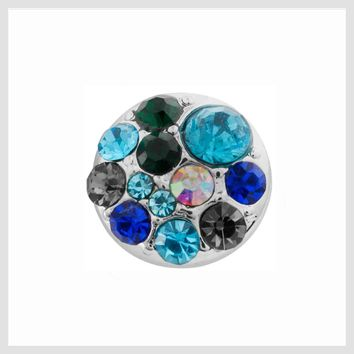 Multicolor Turquoise Blue Crystals 12mm Mini