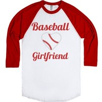 baseball girlfriend-Unisex White/Red T-Shirt