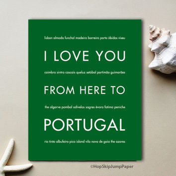 PORTUGAL art print Travel Art Print | Gift Idea | HopSkipJumpPaper