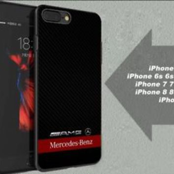Best Mercedes Benz AMG Logo Red Stripe Fit Hard Case for iPhone 6 6s 7+ 8+ Cover