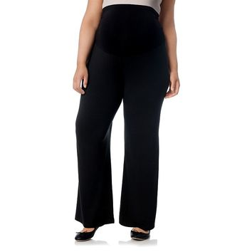Oh Baby by Motherhood Secret Fit Belly Solid Palazzo Pants - Plus Size Maternity, Size: