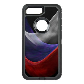 Red blue white waves OtterBox defender iPhone 7 plus case