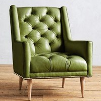 Premium Leather Booker Armchair by Anthropologie