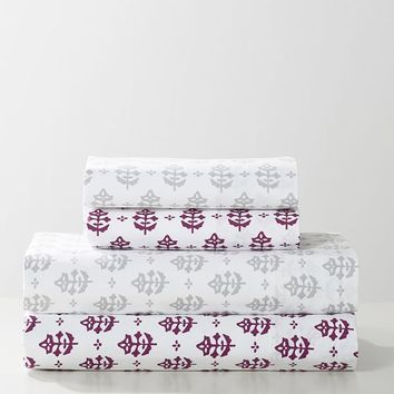Blockprint Leaves Sheet Set
