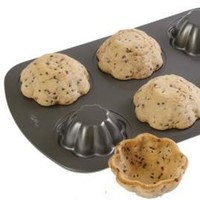 Turn muffin pan upside down, bake cookie-dough over top = cookie bowls for fruit or ice-cream.