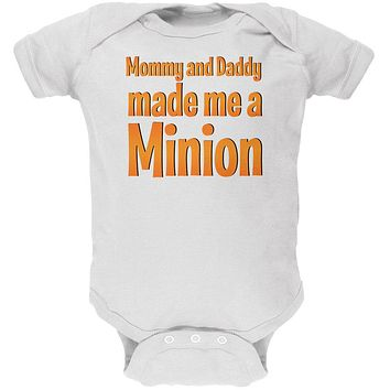Big Brother Big Sister Made A Minon Soft Baby One Piece