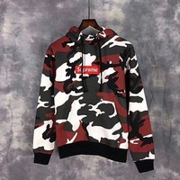 Supreme Camouflage Embroidery Top Sweater Hoodie Tagre™
