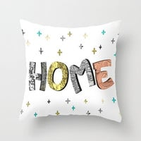 Indoor pillow HOME indoor pillow with double side print White pillow 3D words of home