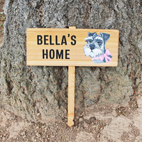 DOG PORTRAIT House Sign, Personalized Doggie Sign, Pet Garden Sign, Custom Dog Sign, Yard decor, Pet Memorial marker