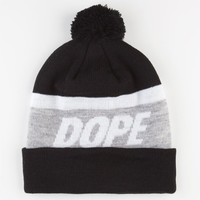 Dope Victory Pom Beanie Grey/Black One Size For Men 23419897601