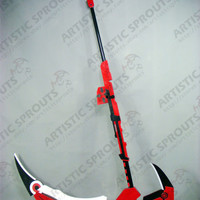 RWBY Ruby Rose Crescent the High Velocity Sniper-Scythe Replica PVC Cosplay Prop