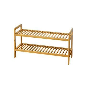 Two Tier Bamboo Shoe Rack By Urban Port