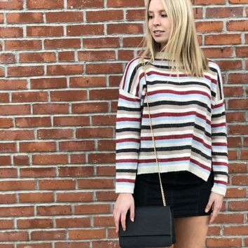 Have It Your Way Stripe Sweater (Back In Stock)