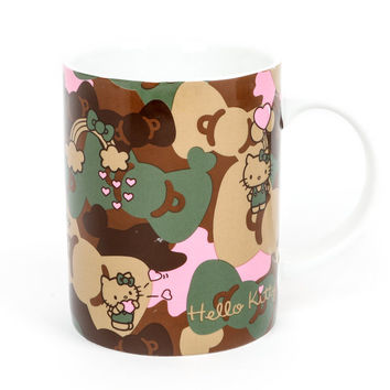 Hello Kitty 14 oz. Ceramic Mug: Camo