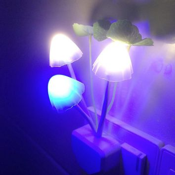 Mushroom LED Night Light Automatic Starter Lamps