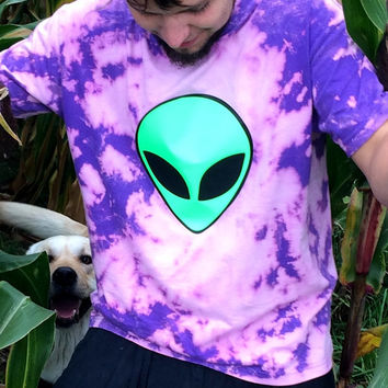 psychedelic alien shirt,neon, flash, psy, goa, festival, party, hipster, drugs, steam