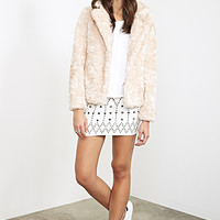 FOREVER 21 Boxy Faux Fur Jacket