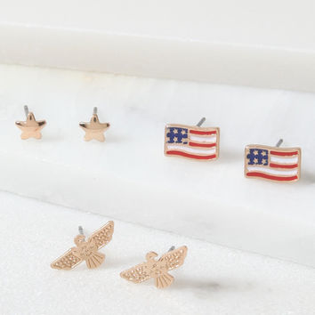 LA Hearts Americana Earring Set at PacSun.com
