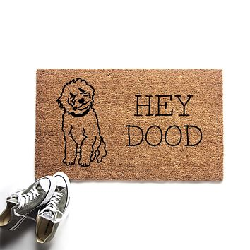 Hey Dood Goldendoodle Doormat