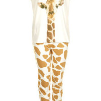 Giraffe Print PJ Set - New In This Week  - New In