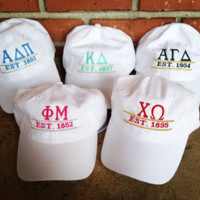 Sorority Hat - Established Date