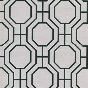 Sample of Karim Moroccan Ironwork Wallpaper in Light Grey by Brewster Home Fashions