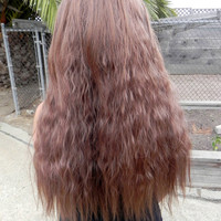 BLACK FRIDAY SALE / Light Brown / Long Wavy Layered Wig